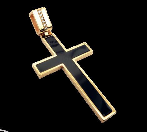 Оригинальный крест из золота, артикул 63210 - Baskrin