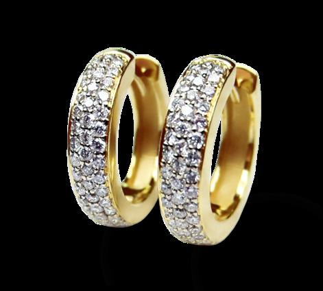 Серьги из золота с бриллиантами, артикул 43237 - Baskrin