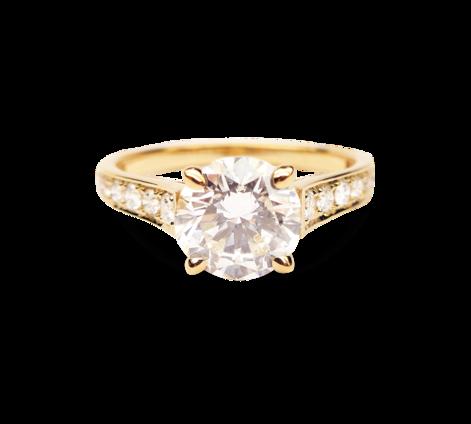Кольцо из золота с бриллиантами, артикул 33272 - Baskrin