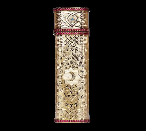 Зажигалка из белого золота с рубинами, бриллиантами и бирюзой , артикул zazhigalka - Baskrin