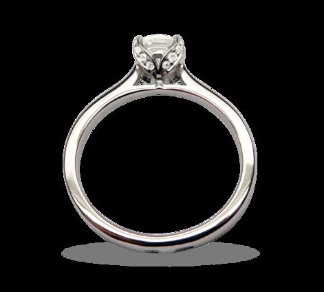 Кольцо из белого золота с бриллиантами, артикул 33268, фото 2 - Baskrin