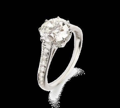 Кольцо из белого золота с бриллиантами, артикул 33356 - Baskrin