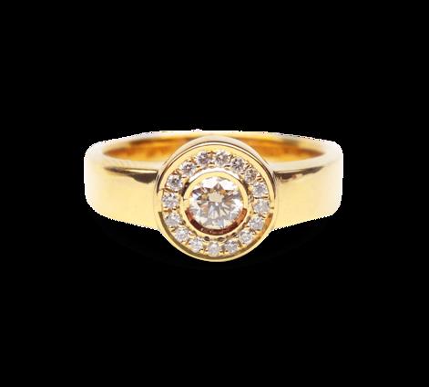 Кольцо из золота с бриллиантами, артикул 30503 - Baskrin
