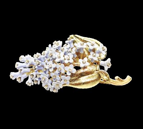 Брошь из золота c бриллиантами и эмалью, артикул 91270_ - Baskrin