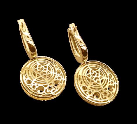 Серьги из золота с перламутром, артикул 43220, фото 2 - Baskrin