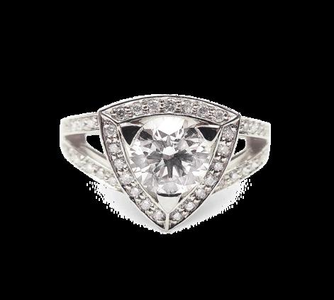 Кольцо из белого золота с бриллиантами, артикул 33230 - Baskrin