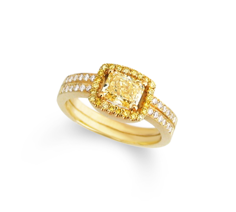 Кольцо из золота с бриллиантами, артикул 31465 - Baskrin