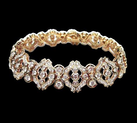 Браслет из золота с бриллиантами, артикул 70512 - Baskrin