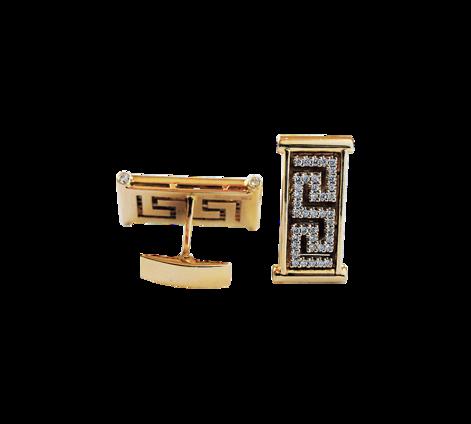 Запонки из золота с бриллиантами, артикул 20001 - Baskrin