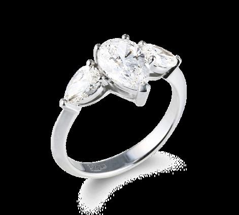 Кольцо из белого золота с бриллиантами, артикул 33450 - Baskrin
