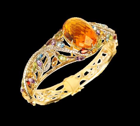 Оригинальный золотой браслет из драгоценных камней, артикул 71165_ - Baskrin