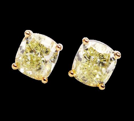 Серьги из золота с бриллиантами, артикул 43363 - Baskrin