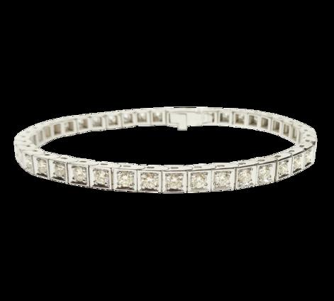 Браслет из белого золота с бриллиантами, артикул 73208 - Baskrin