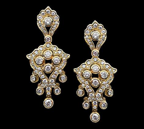 Серьги из золота с бриллиантами, артикул 40512 - Baskrin