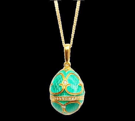 Оригинальный кулон из золота с бриллиантами, артикул 60977_4 - Baskrin
