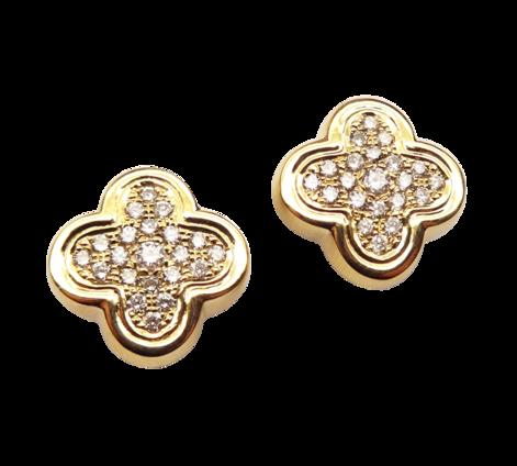 Серьги из золота с бриллиантами, артикул 43172a - Baskrin