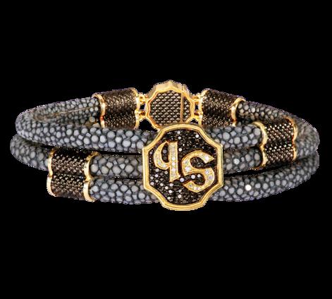 Оригинальный мужской браслет из золота и бриллиантов, артикул 73403 - Baskrin