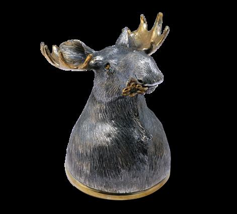 Рюмка-Перевертыш из серебра с чернением и золочением, артикул Рюмка-Перевертыш - Baskrin