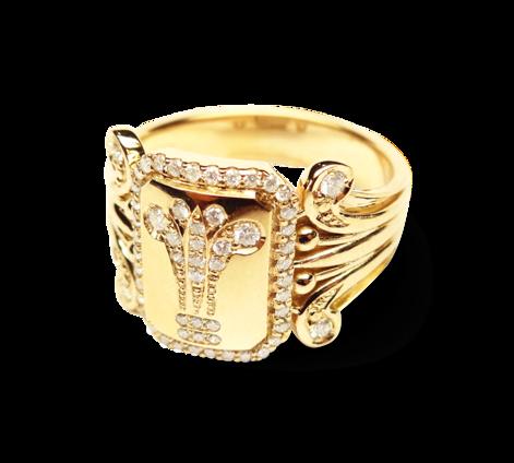 Кольцо из золота с бриллиантами, артикул 33226 - Baskrin