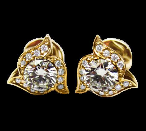 Серьги из золота с бриллиантами, артикул 43142 - Baskrin