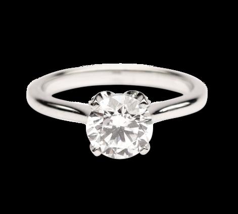 Кольцо из белого золота с бриллиантами, артикул 33268 - Baskrin