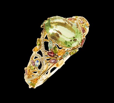 Браслет из золота с драгоценными камнями, артикул 71165 - Baskrin
