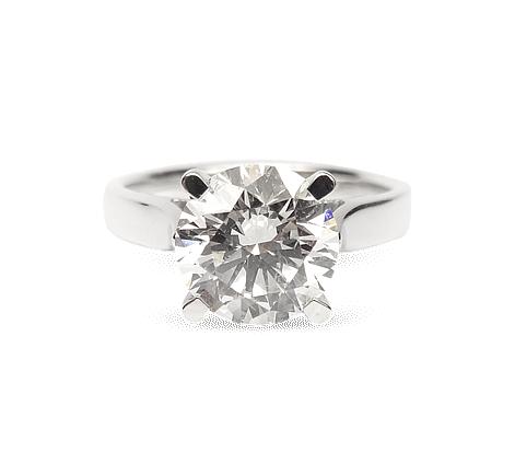 Кольцо из белого золота с бриллиантом, артикул 31131 - Baskrin