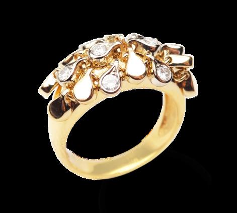 Кольцо из золота с бриллиантами, артикул 33216 - Baskrin