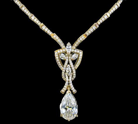 Колье из золота с бриллиантами, артикул 81462 - Baskrin
