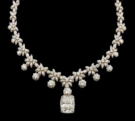 Колье из белого золота с бриллиантами, артикул 81464 - Baskrin