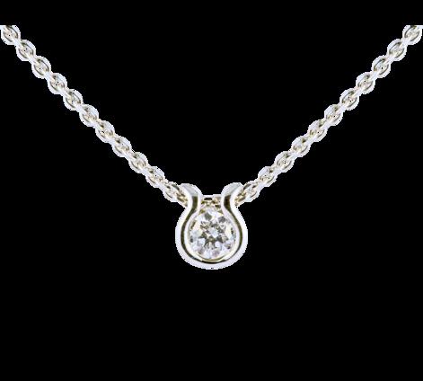 Подвеска из белого золота с бриллиантом на шею, артикул 63474 - Baskrin