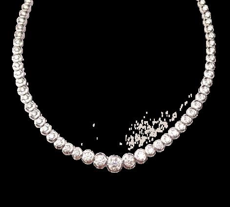 Колье из белого золота c бриллиантами, артикул 81016 - Baskrin