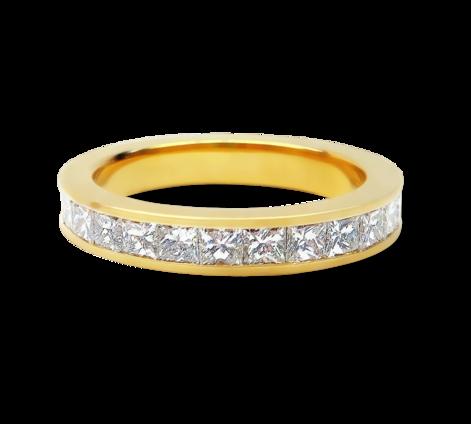 Кольцо из желтого золота с бриллиантами , артикул 33577 - Baskrin
