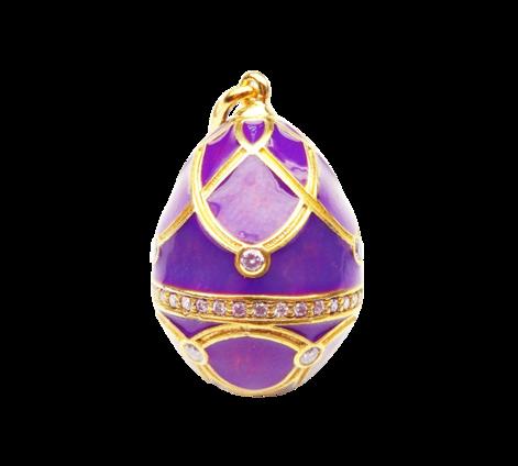 Подвеска из золота с бриллиантами, артикул 60978 - Baskrin