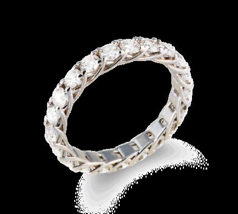Кольцо из белого золота с бриллиантами, артикул 33439 - Baskrin