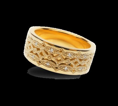 Кольцо из золота с бриллиантами, артикул 33261 - Baskrin